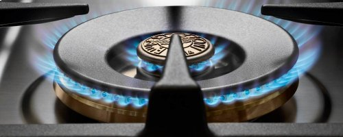 36 inch All Gas Range, 6 Brass Burner Matt Black