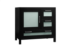 "Athena 36"" Bathroom Vanity Base Cabinet in Black - Door on Left Product Image"