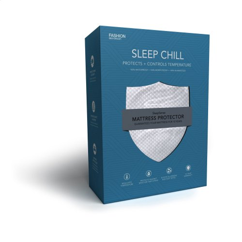 Sleep Chill Mattress Protector with Soft and Moisture Resistant CoolMax Fabric, Full XL