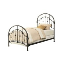 Maywood Transitional Black Metal Twin Bed