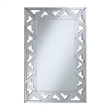 Contemporary Silver Wall Mirror