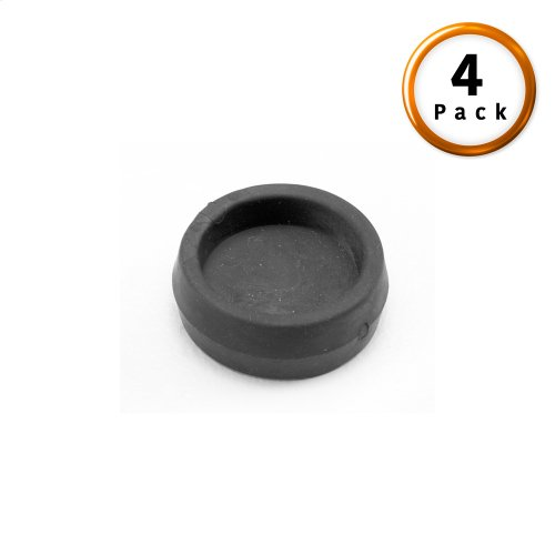 Rubber Caster Cups for Adjustable Bases and Bed Frames, 4-Pack