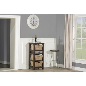 Hillsdale FurnitureTuscan Retreat(r) Basket Stand With Metal Front Drawer and Three Baskets - Smoke