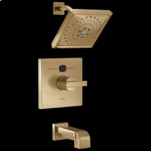 Champagne Bronze Angular Modern Temp 2 O ® 14 Series Tub & Shower Trim