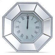 Octagonal Mirrored Wall Clock Product Image