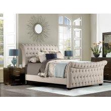 Richmond Queen Bed, Linen Stone
