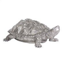Turtle Figurine Textured Pewter