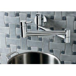 Blanco Cantata Wall Mounted Pot Filler - Satin Nickel