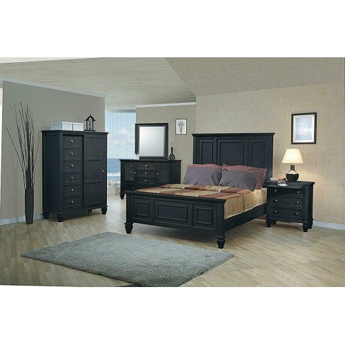 Sandy Beach Black California King Bed