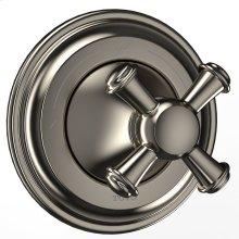 Vivian Two-Way Diverter Trim with Off - Cross Handle - Brushed Nickel