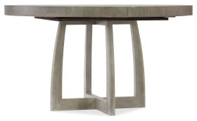 Dining Room Affinity 48in Round Pedestal Dining Table w/1-18in Leaf