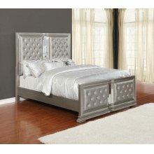Adele Contemporary Metallic Full Bed