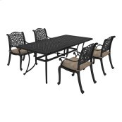 Rose View - Brown 5 Piece Patio Set