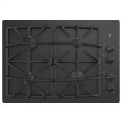 """30"""" Built-In Gas on Glass Cooktop with Dishwasher Safe Grates"""
