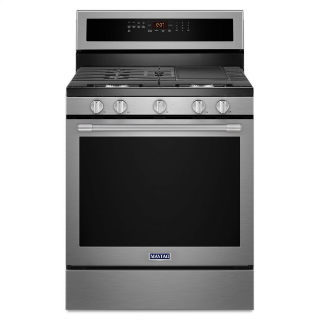 Maytag 30-Inch Wide Gas Range With True Convection And Power Preheat - 5.8 Cu. Ft.