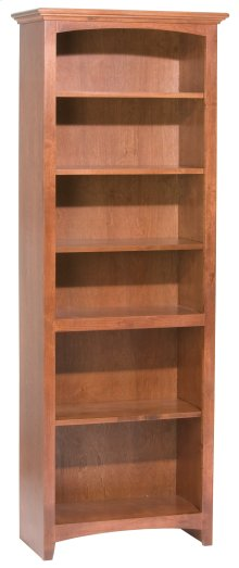 "GAC 72""H x 24""W McKenzie Alder Bookcase in Antique Cherry"