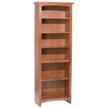 """GAC 72""""H x 24""""W McKenzie Alder Bookcase in Antique Cherry"""