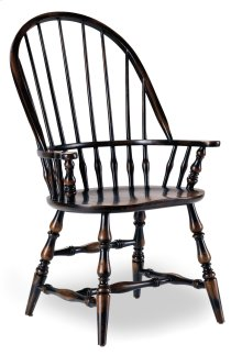 Dining Room Sanctuary Windsor Arm Chair-Ebony