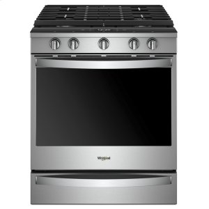 5.8 cu. ft. Smart Slide-in Gas Range with EZ-2-Lift Hinged Cast-Iron Grates - FINGERPRINT RESISTANT STAINLESS STEEL
