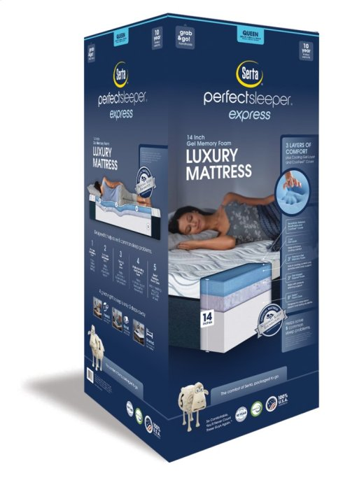 "Perfect Sleeper - Express Luxury Mattress - 14"" - Queen"