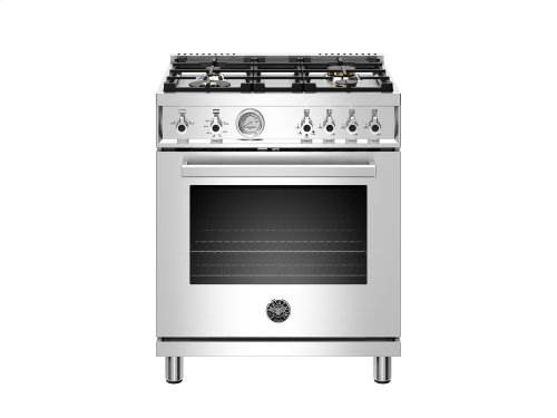 30 inch All Gas Range, 4 Brass Burner Stainless