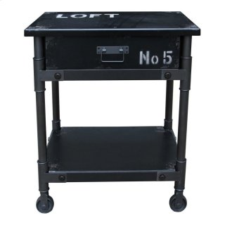 Soho 1 Drawer Cabinet Black
