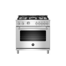 36 inch Dual Fuel Range, 5 Burner, Electric Oven Stainless Steel