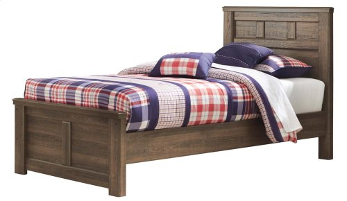 Juararo - Dark Brown 3 Piece Bed Set (Twin)