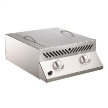 Built-In Flat Top SIZZLE ZONE Head with two Infrared Burners.