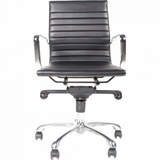 Omega Swivel Office Chair Low Back Black