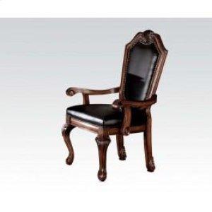 Arm Chair With Black Pu @n