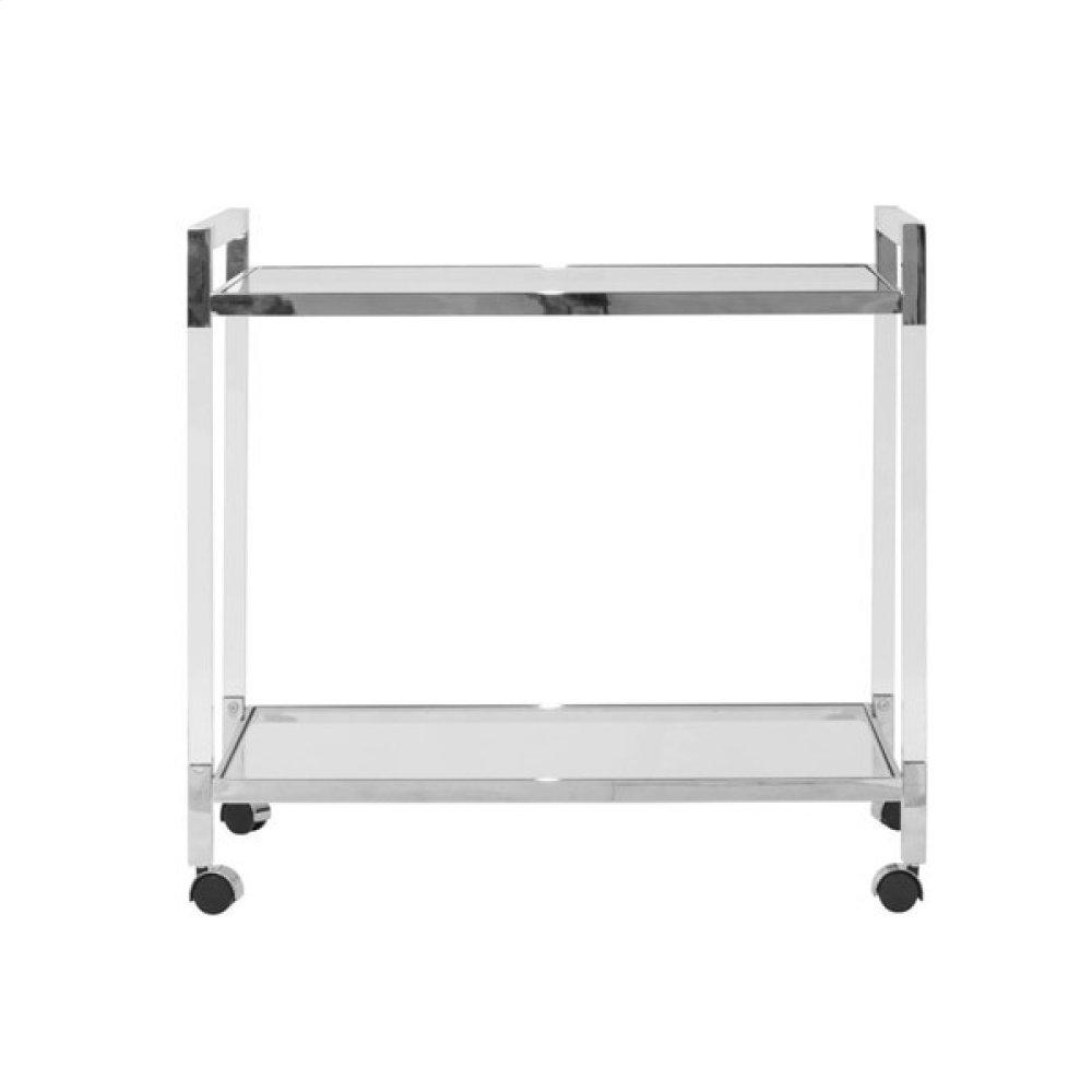 Acrylic Bar Cart With Nickel Hardware