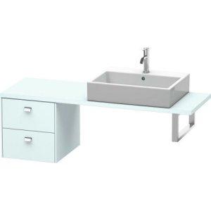 Brioso Low Cabinet For Console Compact, Light Blue Matt Decor