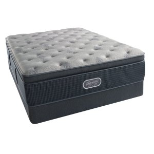 SimmonsBeautyRest - Silver - Charcoal Coast - Summit Pillow Top - Luxury Firm - Cal King