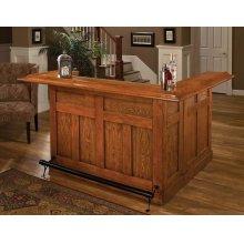 Classic Oak Large Bar With Side Bar