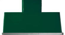 """Emerald Green with Stainless Steel Trim 40"""" Range Hood with Warming Lights"""