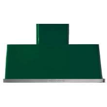 "Emerald Green with Stainless Steel Trim 40"" Range Hood with Warming Lights"
