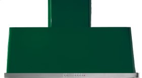 """Emerald Green with Stainless Steel Trim 60"""" Range Hood with Warming Lights"""