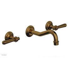 MARVELLE Wall Tub Set - Lever Handles 162-57 - French Brass