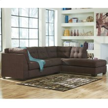 Benchcraft Maier Sectional with Right Side Facing Chaise in Walnut Microfiber