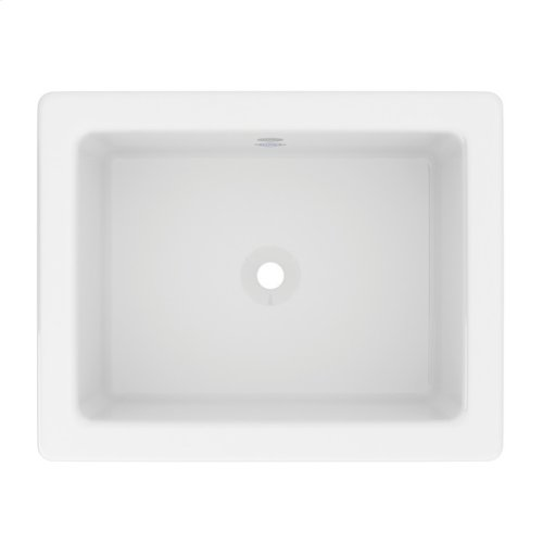 Shaws Fireclay Shaker Rectangular Undermount Or Drop-In Lavatory Sink