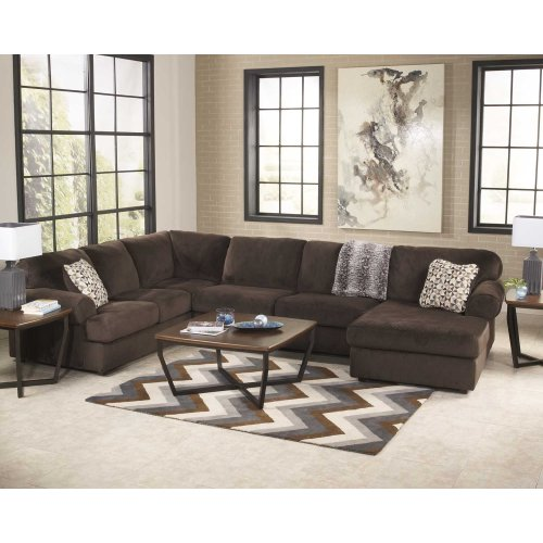 Jessa Place Chocolate Sectional Right