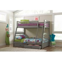 Ashton Grey Twin-over-full Bunk Bed