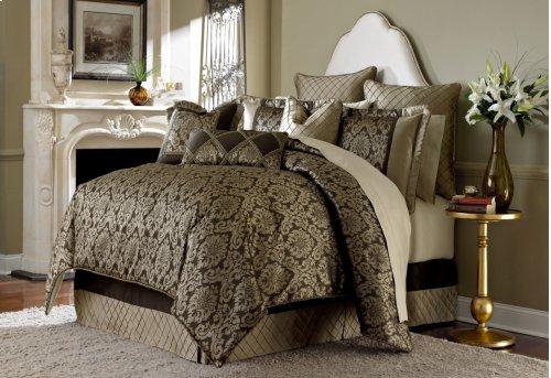 10 Pc King Comforter Set Bronze