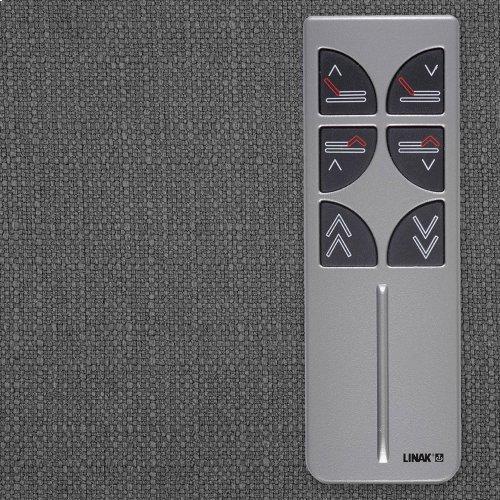 Sunrise Slim-Profile Adjustable Bed Base for Platform Beds with Wireless Remote, Charcoal Gray, Split California King