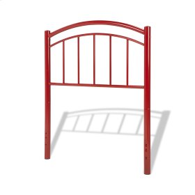 Rylan Complete Kids Bed with Metal Duo Panels, Tomato Red Finish, Full