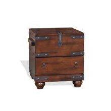 Santa Fe Trunk End Table w/ Storage Drawer
