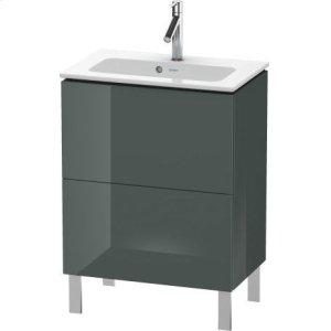 Vanity Unit Floorstanding Compact, Dolomiti Gray High Gloss Lacquer