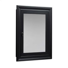 Traditional Solid Wood Framed Medicine Cabinet in Antique Black