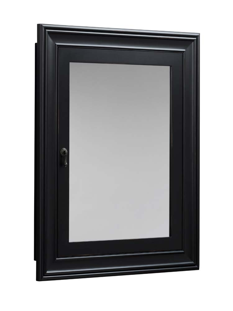 Genial Traditional Solid Wood Framed Medicine Cabinet In Antique Black